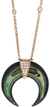 Jacquie Aiche Abalone Horn Necklace - Rose Gold