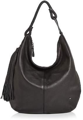 Halston Elsa Large Leather Tassel Hobo