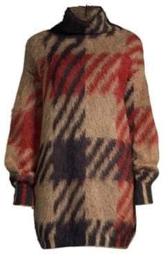 BOSS Oversized Mohair& Jacquard Knit Sweater