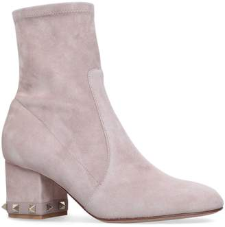 Valentino Suede Stretch Ankle Boots 60