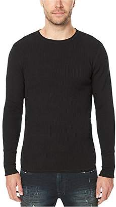Buffalo David Bitton Men's Wiround Long Sleeve Crew Neck Ribbed Sweater
