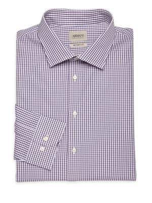Giorgio Armani Plaid Cotton Dress Shirt