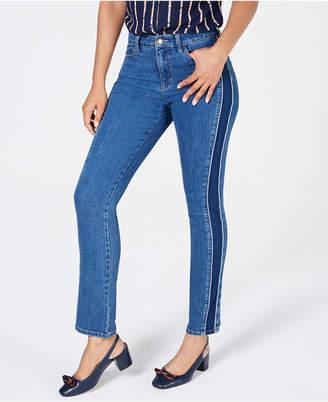 Charter Club Side-Stripe Tummy-Control Jeans