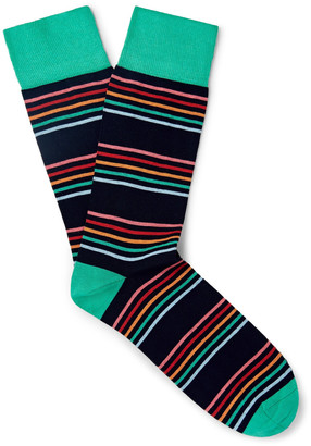 Corgi Striped Cotton-Blend Socks $20 thestylecure.com