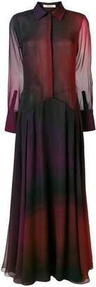 Roberto Cavalli degradé georgette dress