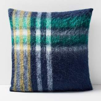 west elm Plaid Pillow Cover - Midnight