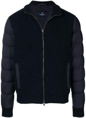 Hackett knitted front padded jacket