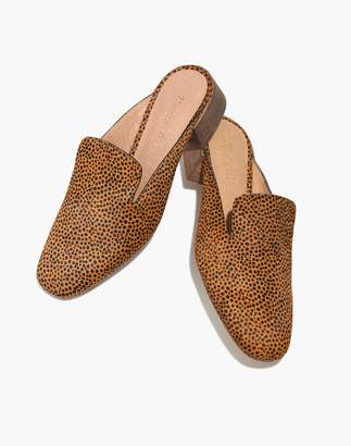 Madewell The Willa Loafer Mule in Spotted Calf Hair