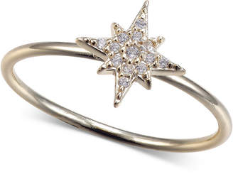 Unwritten Cubic Zirconia Star Ring in Gold-Tone Sterling Silver