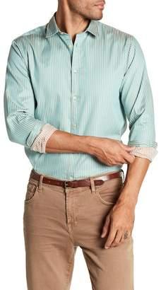 Scotch & Soda Stripe Long Sleeve Regular Fit Shirt