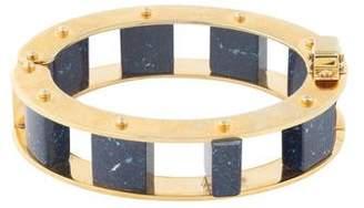 Lele Sadoughi Stone Cube Slider Bracelet