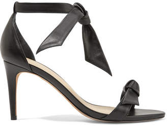 Alexandre Birman Clarita Bow-embellished Leather Sandals - Black