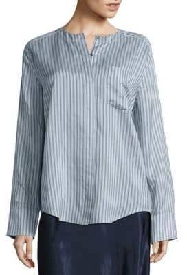 Vince Stripe Pleat Back Shirt