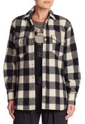 Ralph Lauren Collection Buffalo Check Cotton & Wool Shirt $1,190 thestylecure.com