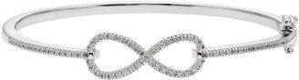 Diamond Splendor Crystal & Diamond Accent Sterling Silver Infinity Bangle Bracelet