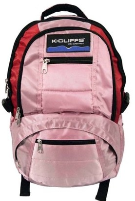 "K-Cliffs Deluxe Dobby Nylon Laptop Backpack (fits 15"" Laptop) Navy"