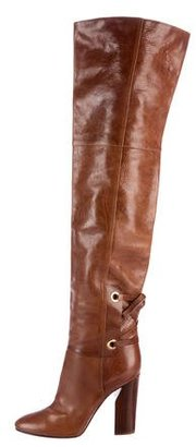Casadei Leather Thigh-High Boots $300 thestylecure.com