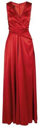 Talbot Runhof Red Pleated Satin Gown