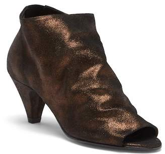 Hudson London Goa Peep Toe Suede Bootie