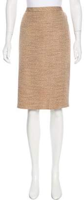 Ellen Tracy Linda Allard Metallic Knee-Length Skirt