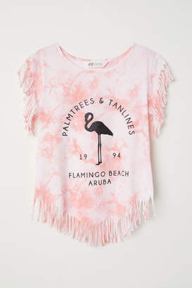 H&M Top with Fringe - Pink