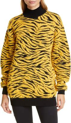 Kwaidan Editions Tiger Jacquard Wool & Mohair Blend Sweater