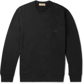 Burberry Logo-Appliquéd Panelled Loopback Cotton-Jersey Sweatshirt