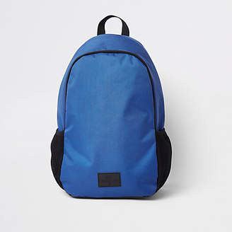 River Island Blue double zip compartment backpack