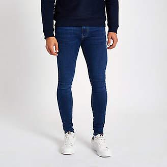 River Island Dark blue wash Ollie skinny spray on jeans