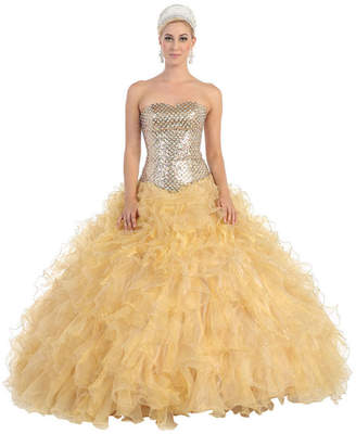 Asstd National Brand Lace Up Back Ball Gown - Juniors