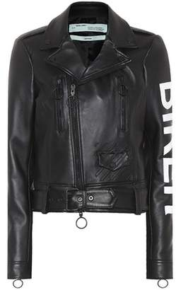Off-White Printed leather jacket