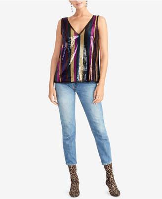 Rachel Roy Veda Sequined Stripe Cami Top