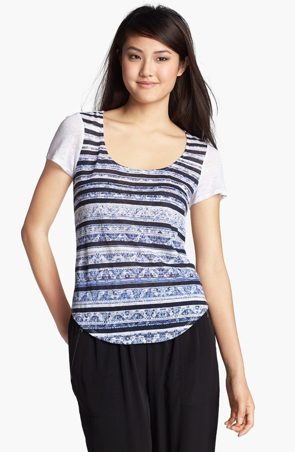 Kenneth Cole New York 'Mason' Print Front Tee