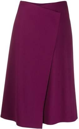 Escada wrap front skirt