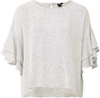 28b9b3f42d88d7 Dorothy Perkins Womens *Izabel London White Frill Sleeve Blouse
