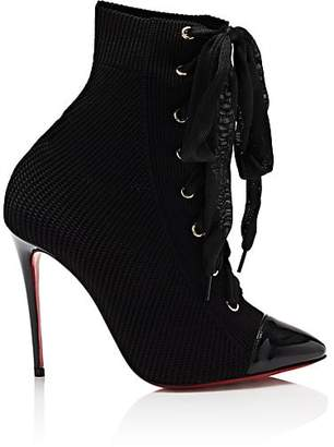 Christian Louboutin Women's Frenchie Knit Ankle Boots - Black