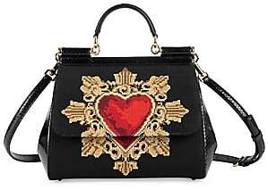 Dolce & Gabbana Women's Medium Sicily Sacred Heart Top Handle Bag