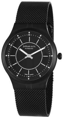 Johan Eric Men's JE3100-13-007 Skive Stainless Steel Mesh Ultra Slim Bracelet Watch