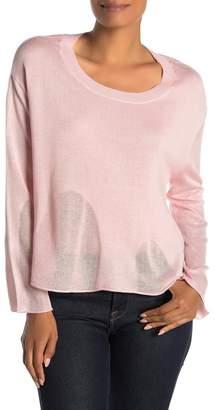 InCashmere In Cashmere Silk Blend Drop Stitch Top