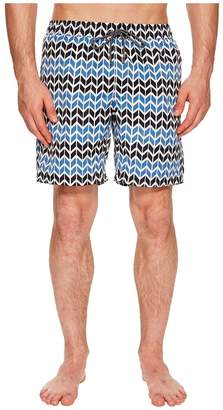 Mr.Swim Mr. Swim Zig Zag Printed Dale Swim Trunks Men's Swimwear