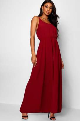 boohoo Strappy Woven Maxi Dress