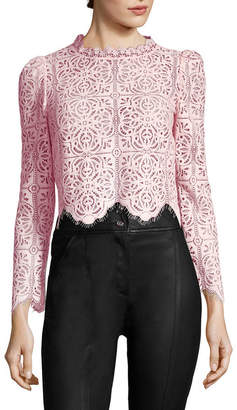 Temperley London Lace Crop Top