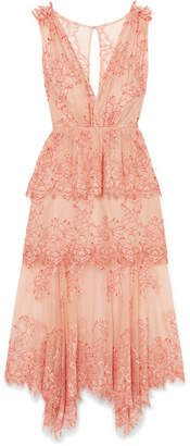 Alice McCall Clementine Tiered Lace Dress - Antique rose