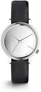 Komono Estelle Mirror Silver Black Watch