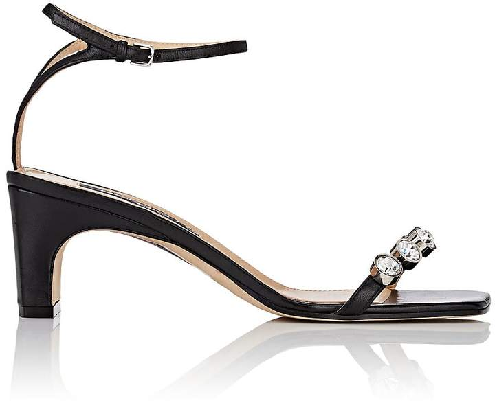 Sergio Rossi Women's Crystal-Embellished Leather Sandals