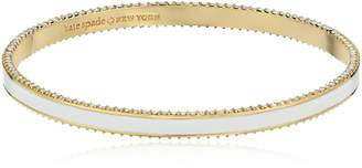 Kate Spade Enamel Bangle White Mlti-Bangle Bracelet