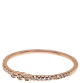 Bony Levy 18K Rose Gold Pave Diamond Delicate Circles Ring - 0.11 ctw