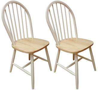 Debenhams RUDDIMANS Pair Of Ivory Painted 'Windsor' Chairs
