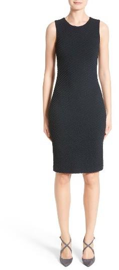 Women's Armani Collezioni Diagonal Jacquard Sheath Dress
