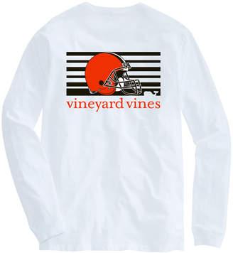 Vineyard Vines Adult Browns Long-Sleeve Block Stripe T-Shirt
